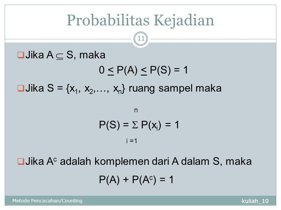 Probabilitas Kejadian