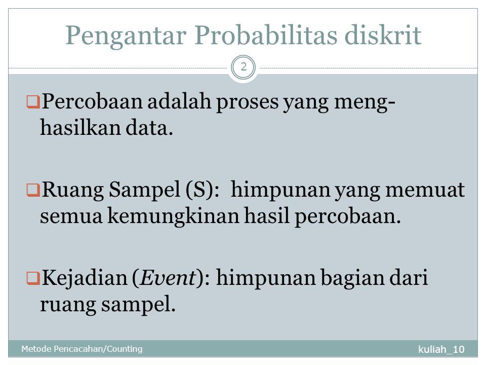 Pengantar Probabilitas diskrit