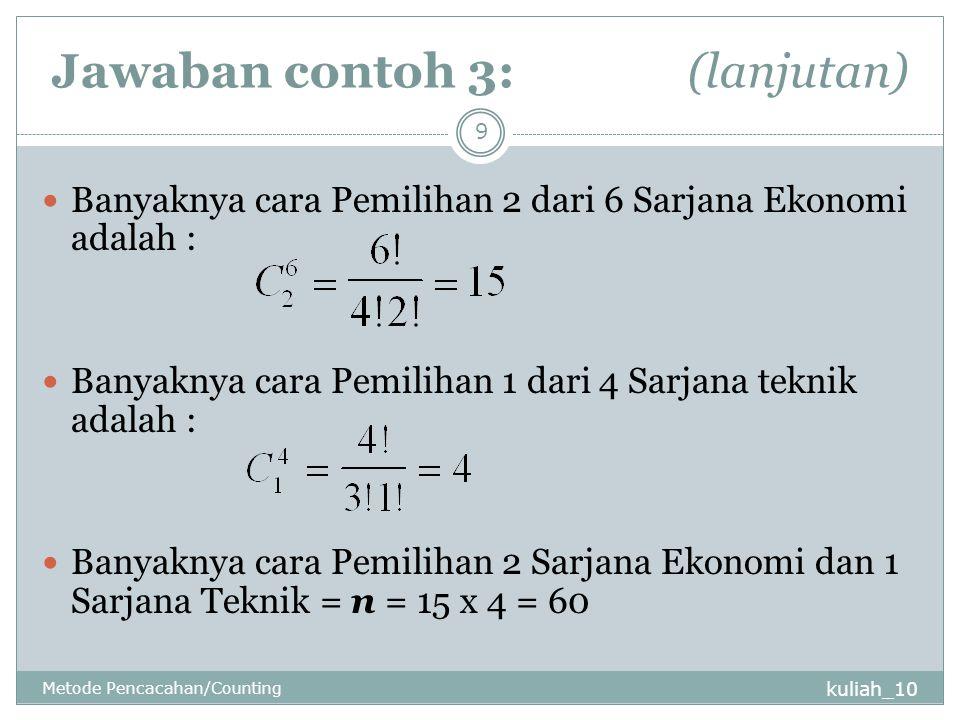 Jawaban contoh 3: (lanjutan)
