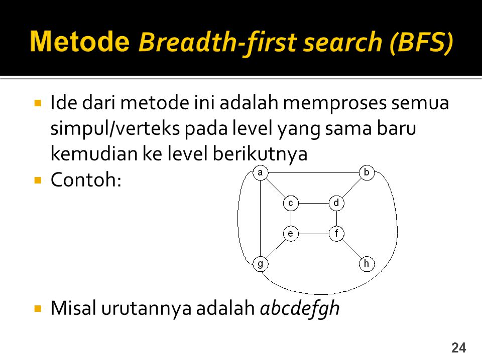 Metode Breadth-first search (BFS)