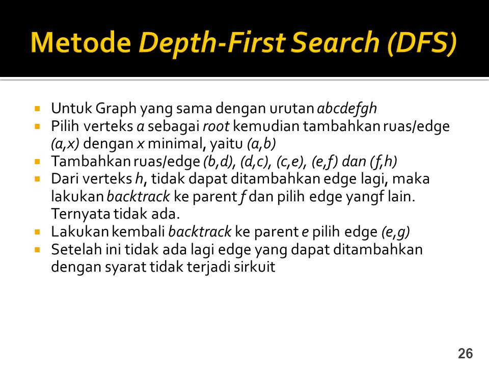 Metode Depth-First Search (DFS)