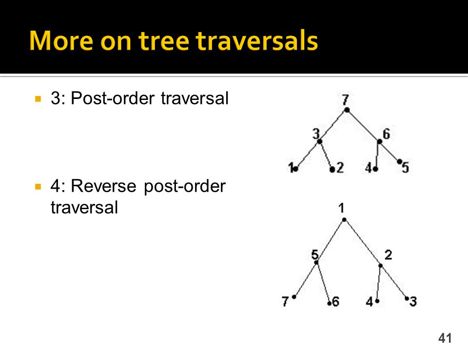 More on tree traversals