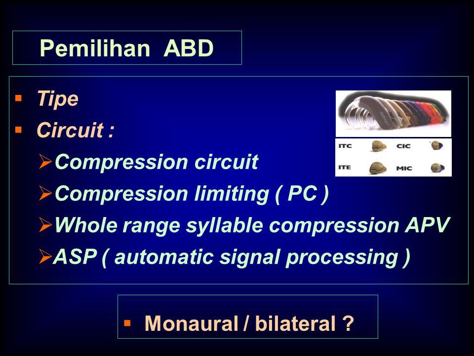 Pemilihan ABD Tipe Circuit : Compression circuit