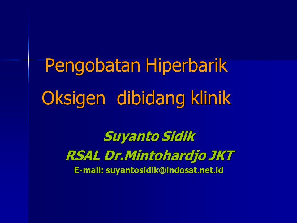 Pengobatan Hiperbarik Oksigen dibidang klinik