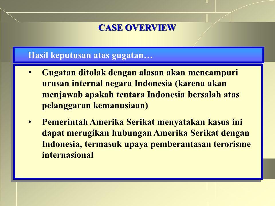 CASE OVERVIEW Hasil keputusan atas gugatan…