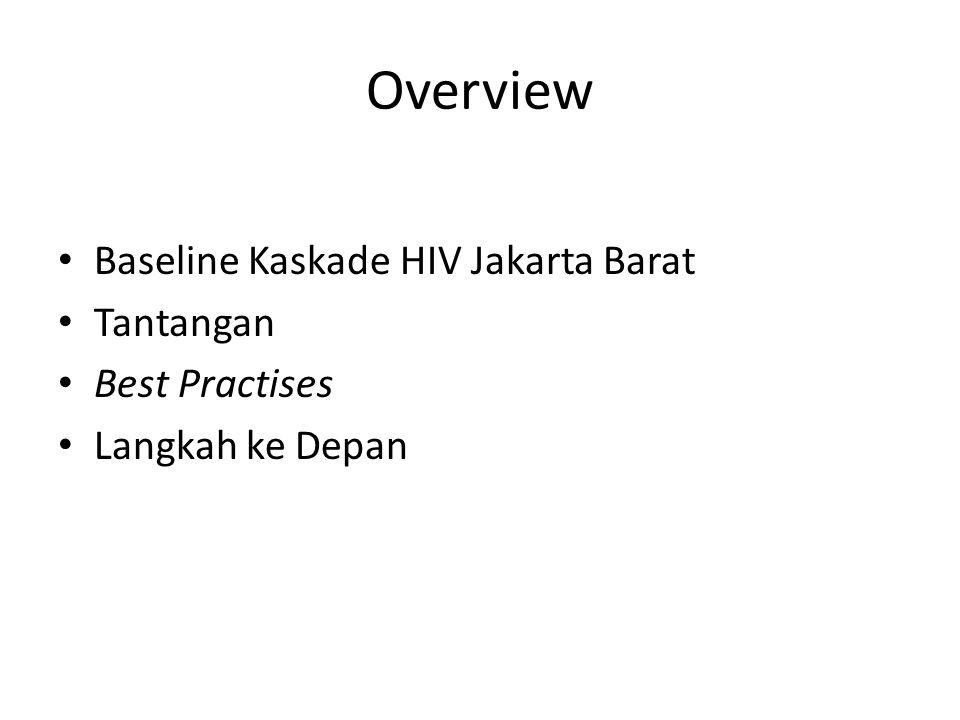 Overview Baseline Kaskade HIV Jakarta Barat Tantangan Best Practises