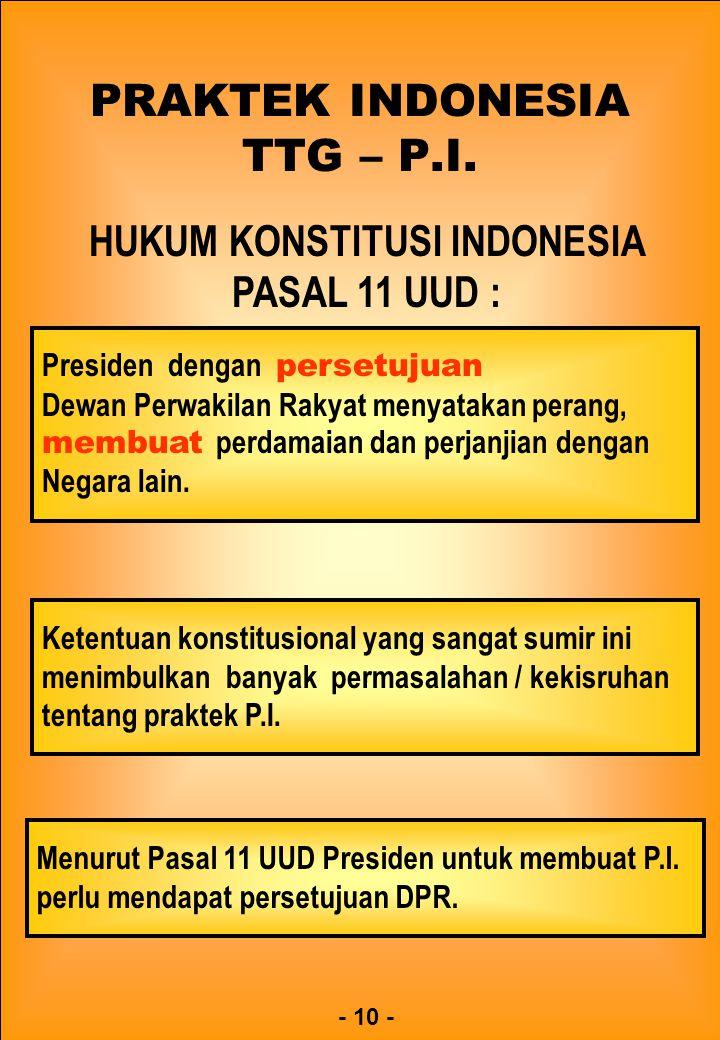 PRAKTEK INDONESIA TTG – P.I.