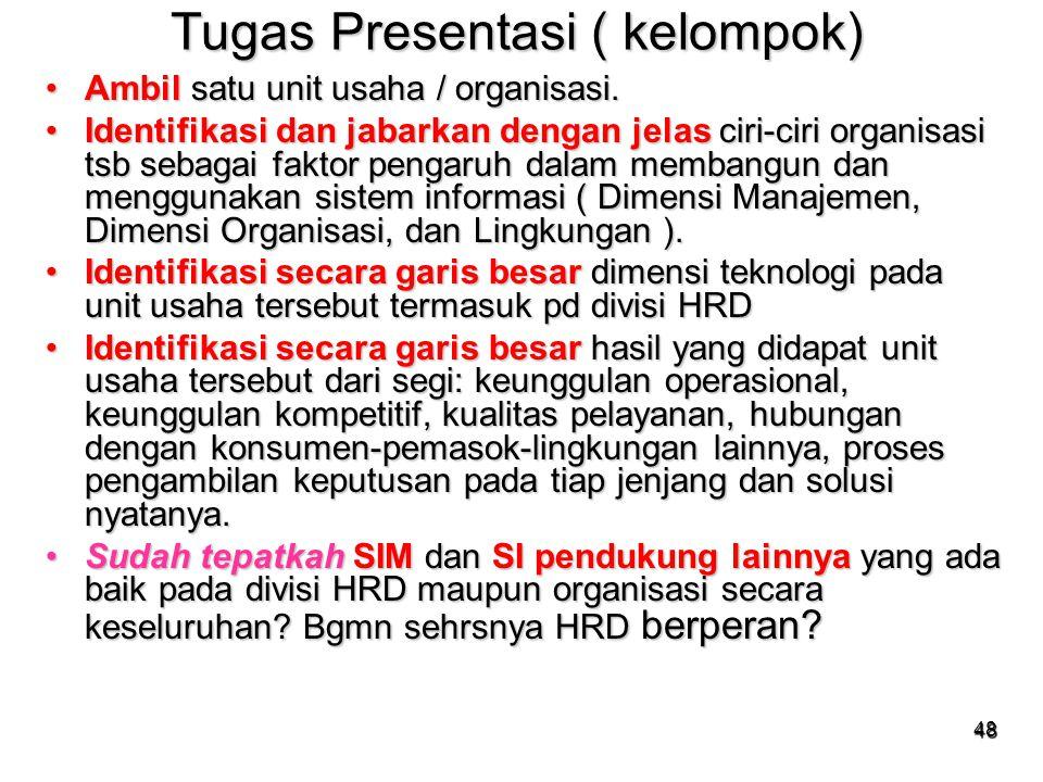 Tugas Presentasi ( kelompok)