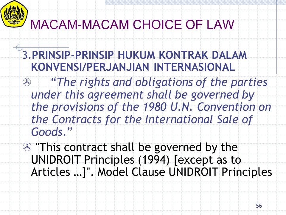 MACAM-MACAM CHOICE OF LAW