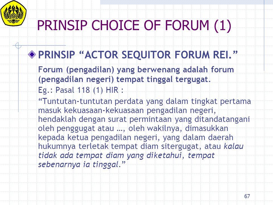 PRINSIP CHOICE OF FORUM (1)