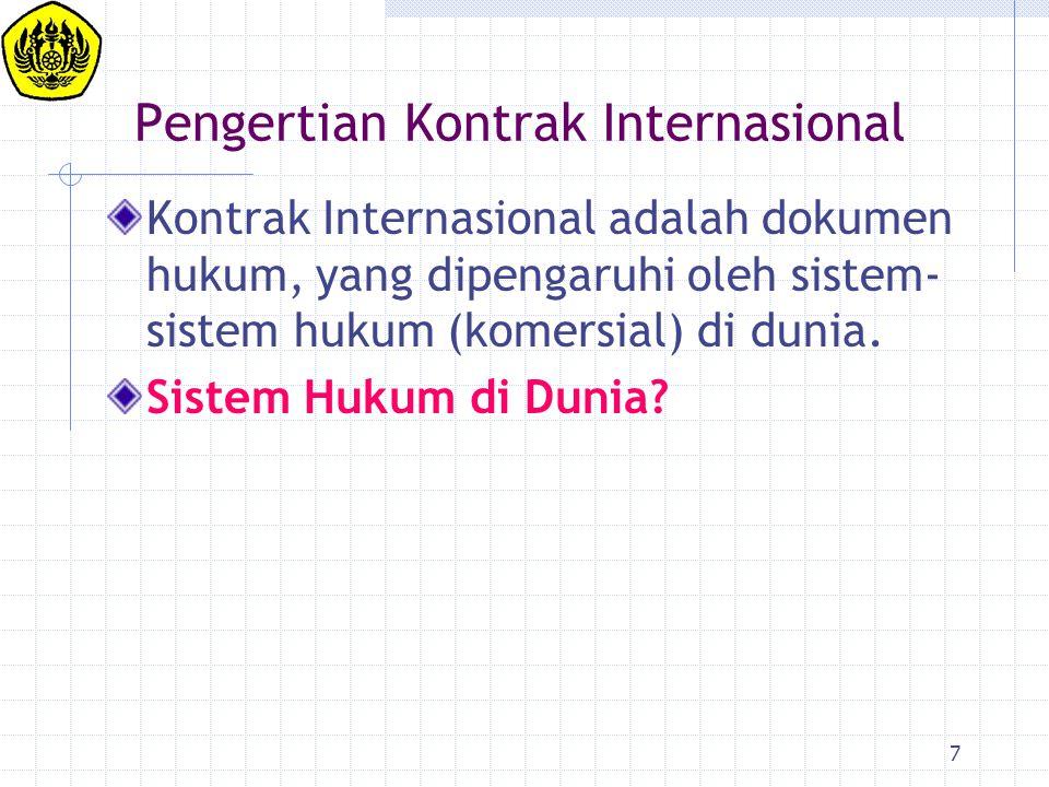 Pengertian Kontrak Internasional