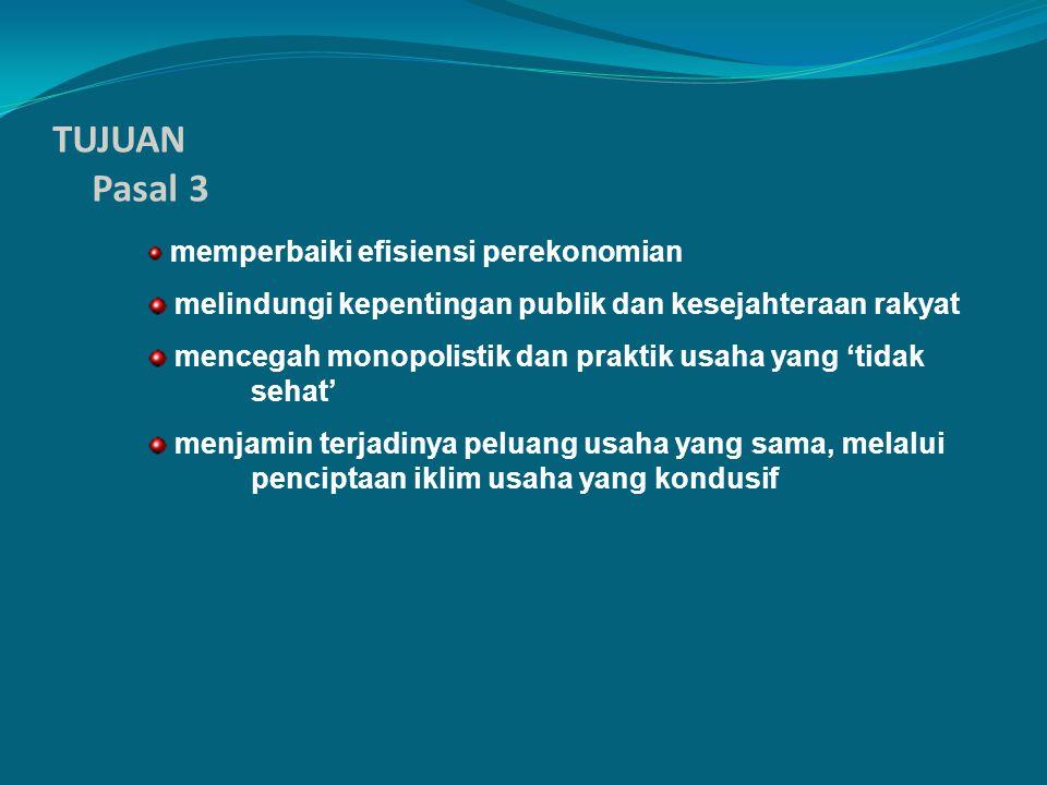 TUJUAN Pasal 3 melindungi kepentingan publik dan kesejahteraan rakyat