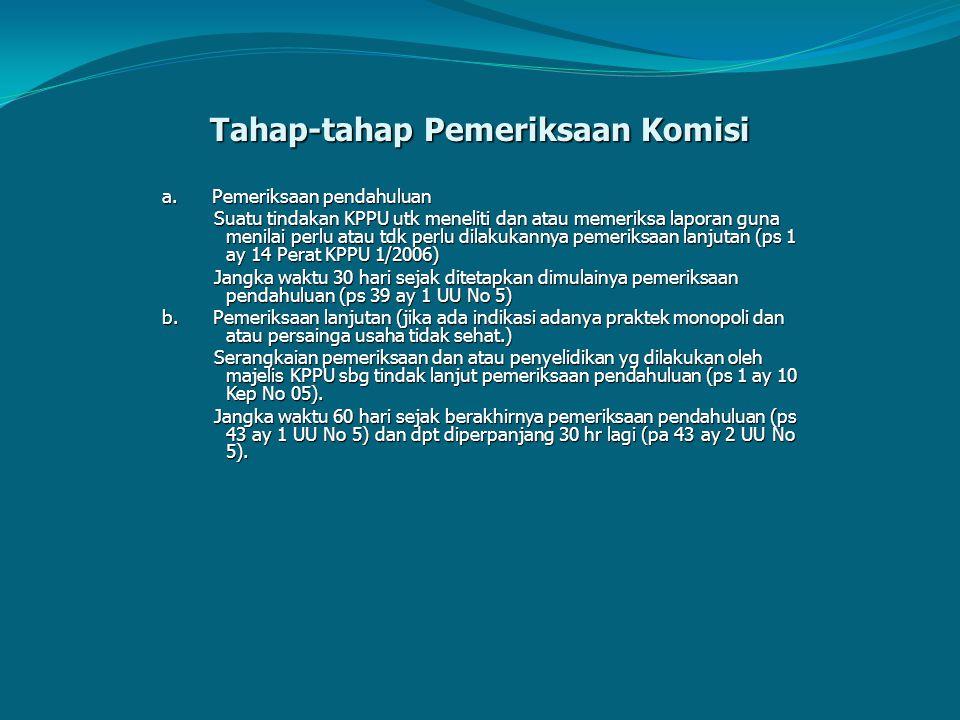 Tahap-tahap Pemeriksaan Komisi