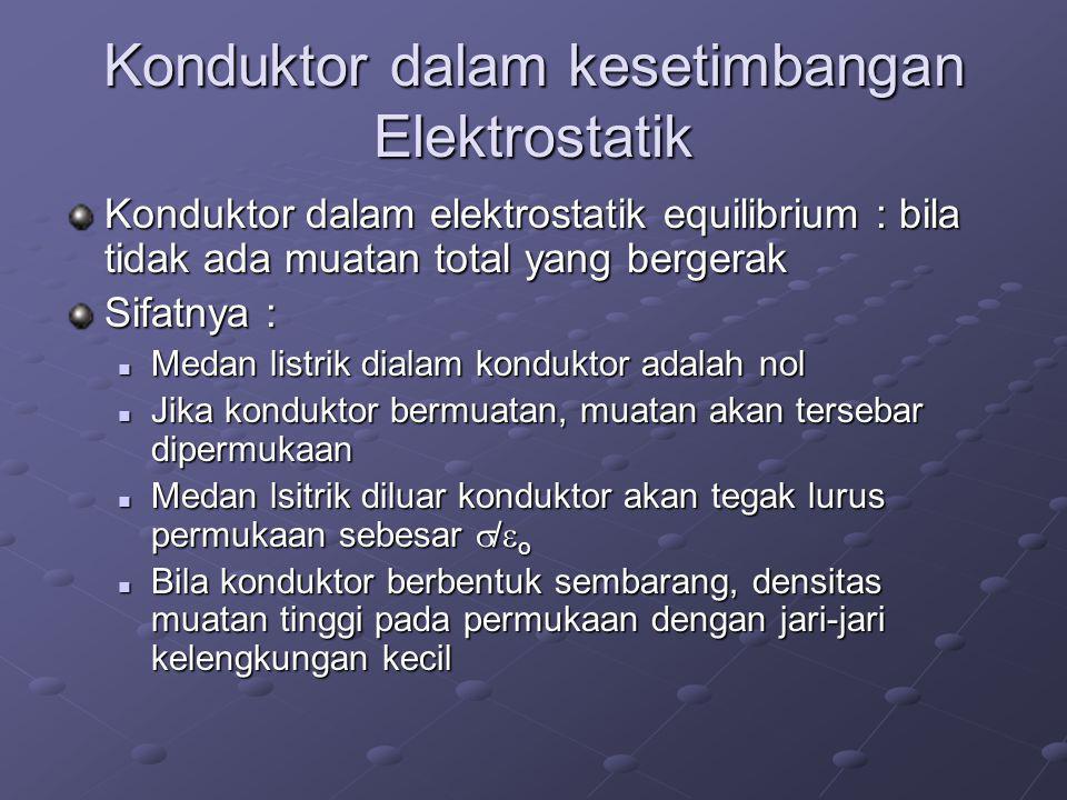 Konduktor dalam kesetimbangan Elektrostatik