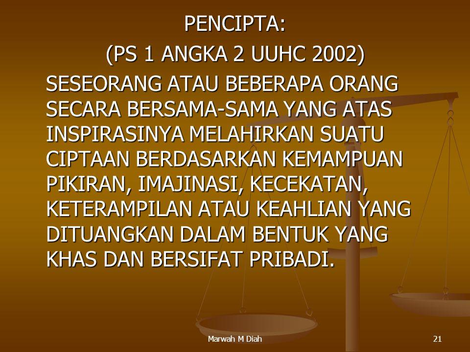 PENCIPTA: (PS 1 ANGKA 2 UUHC 2002)