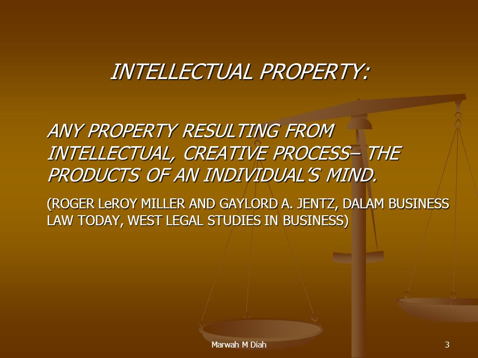 INTELLECTUAL PROPERTY: