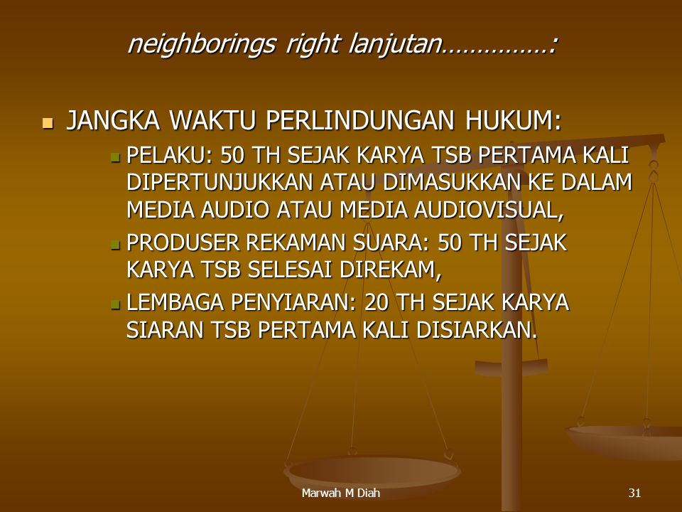 neighborings right lanjutan……………: