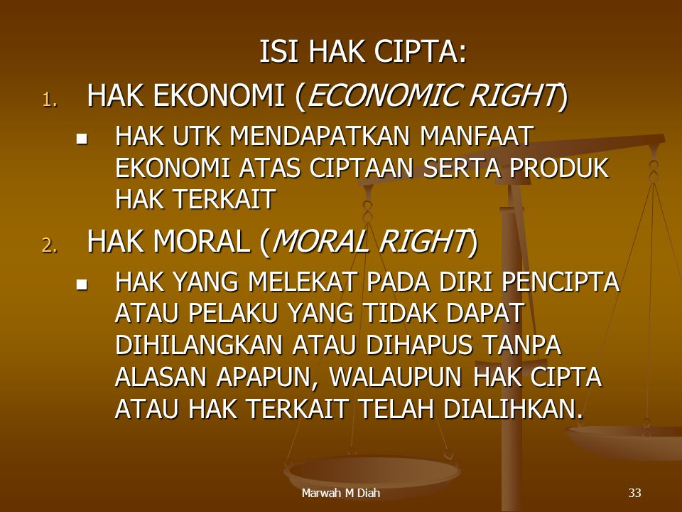 HAK EKONOMI (ECONOMIC RIGHT)
