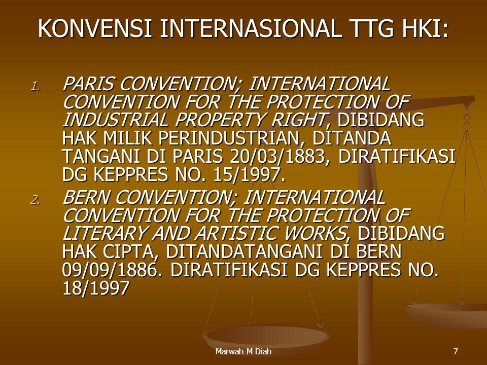 KONVENSI INTERNASIONAL TTG HKI: