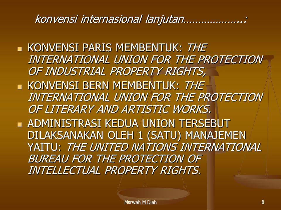 konvensi internasional lanjutan………………..:
