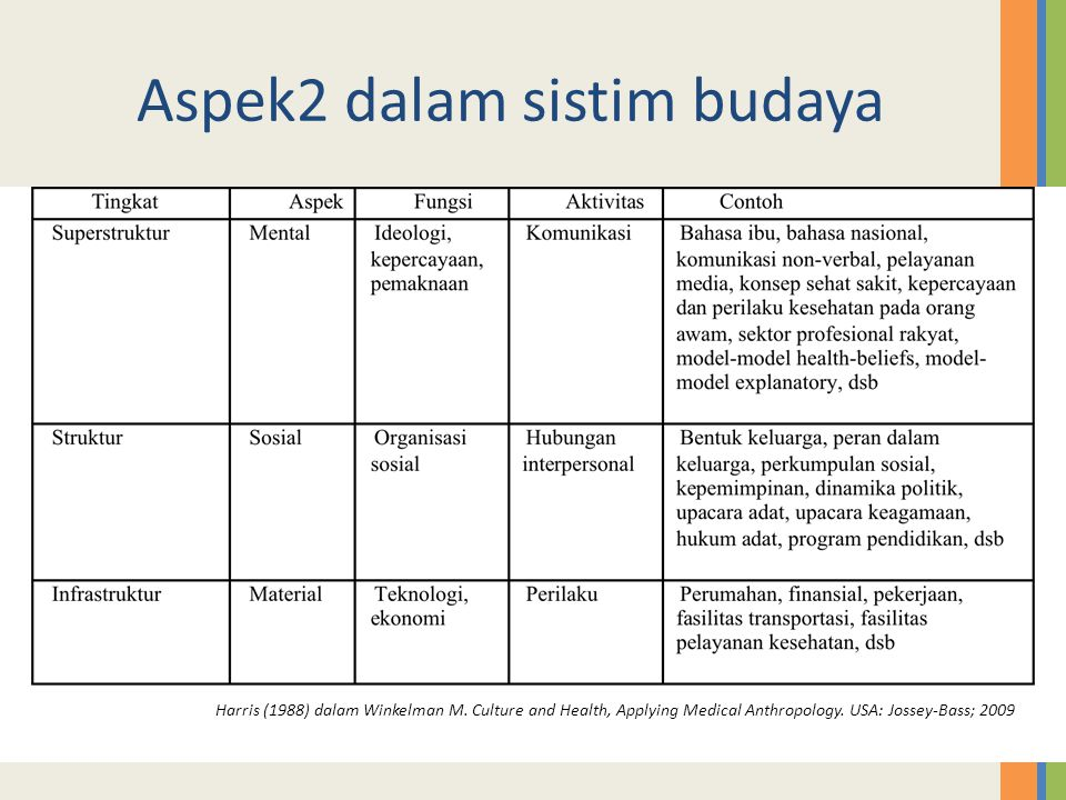 Aspek2 dalam sistim budaya