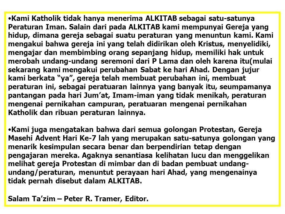 Salam Ta'zim – Peter R. Tramer, Editor.