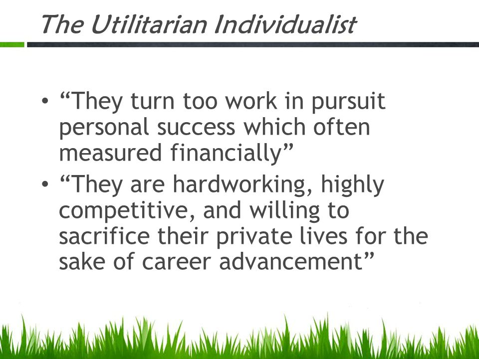 The Utilitarian Individualist