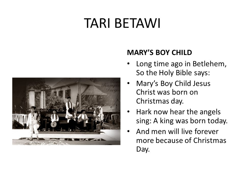 TARI BETAWI MARY'S BOY CHILD