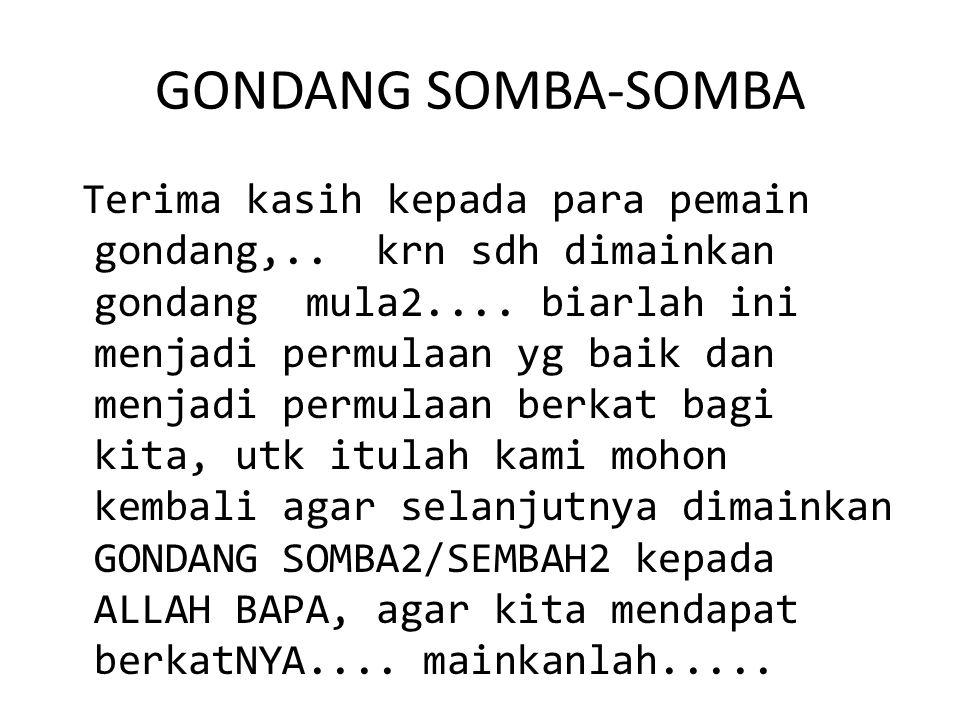 GONDANG SOMBA-SOMBA