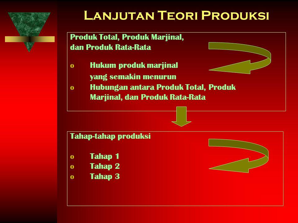 Lanjutan Teori Produksi