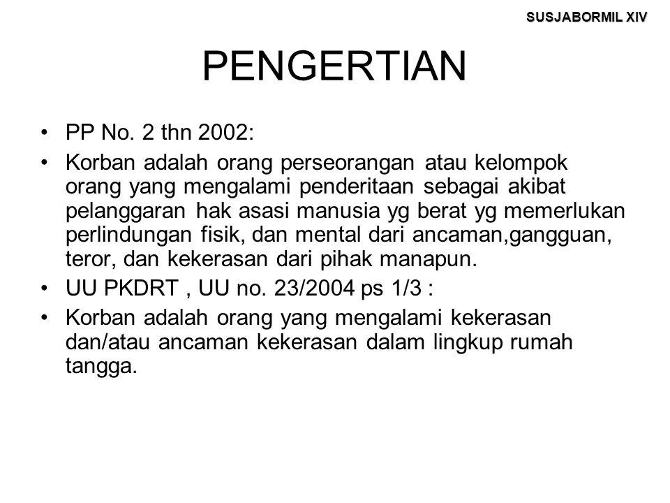 PENGERTIAN PP No. 2 thn 2002: