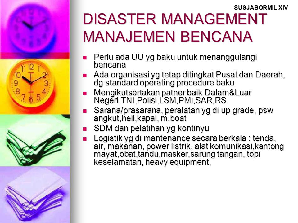 DISASTER MANAGEMENT MANAJEMEN BENCANA