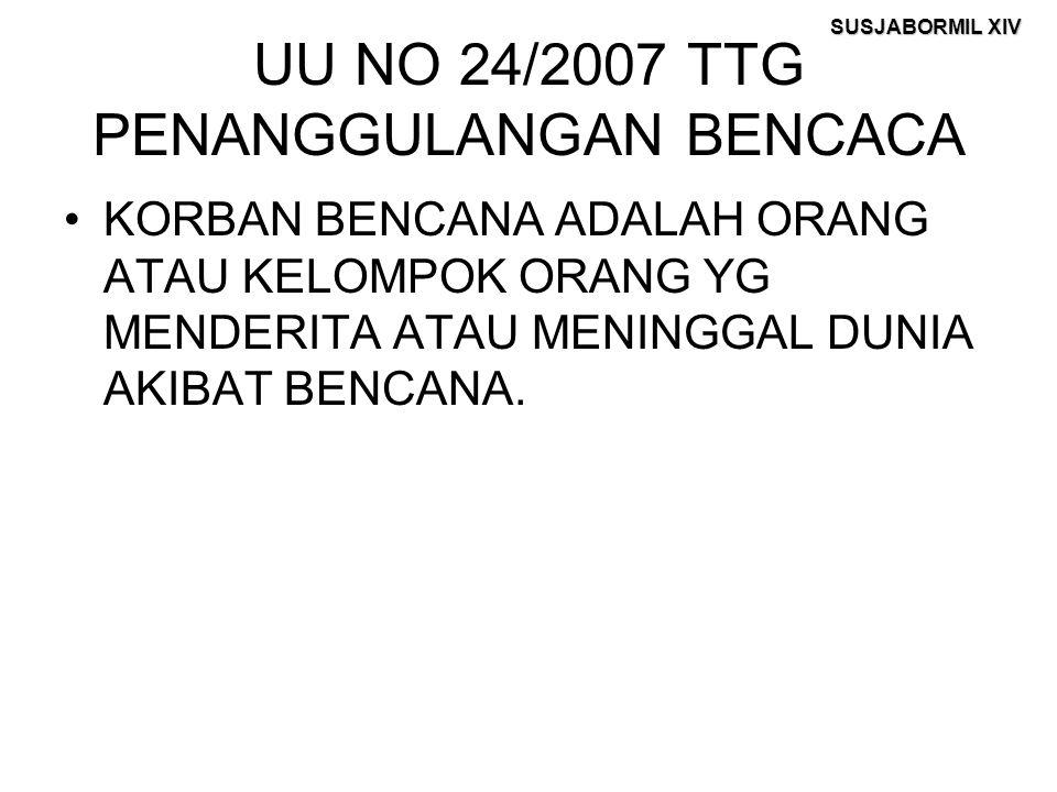 UU NO 24/2007 TTG PENANGGULANGAN BENCACA