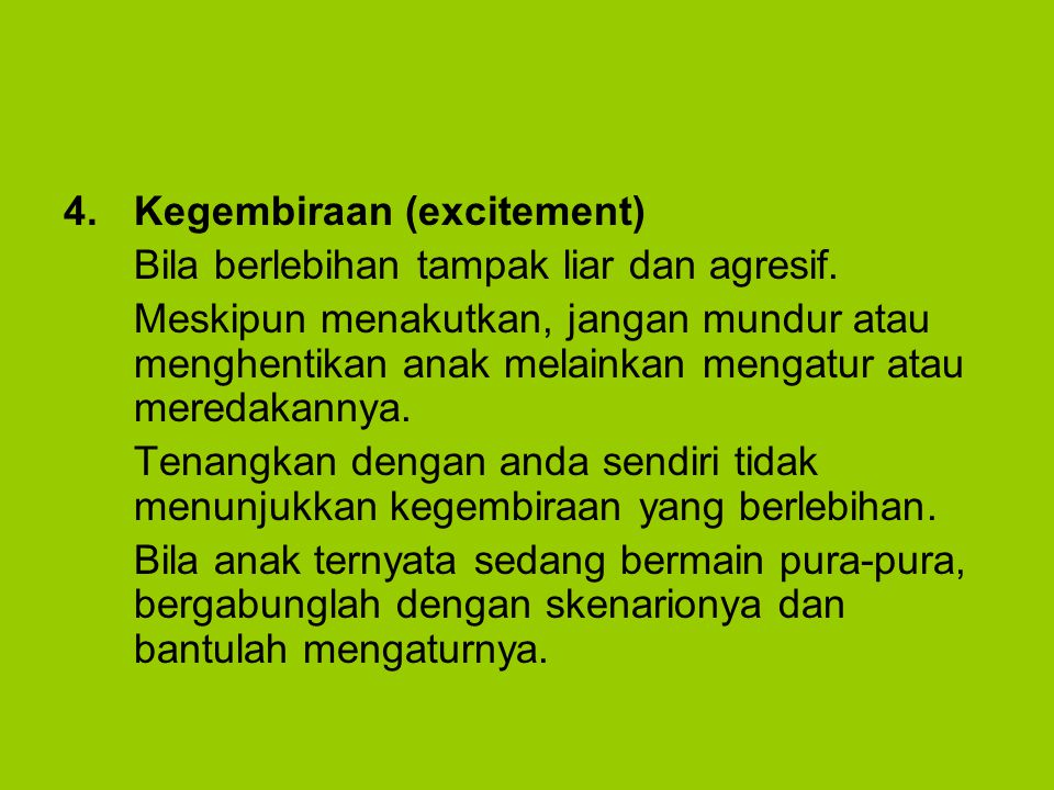 Kegembiraan (excitement)