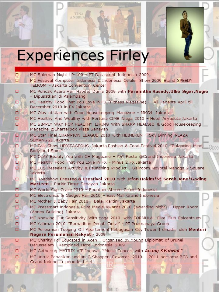 Experiences Firley MC Saleman Night LP-100 – PT Datascript Indonesia 2009.