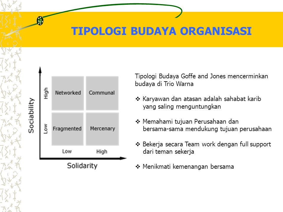 TIPOLOGI BUDAYA ORGANISASI