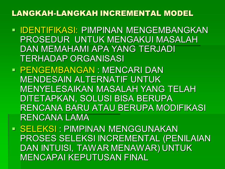 LANGKAH-LANGKAH INCREMENTAL MODEL