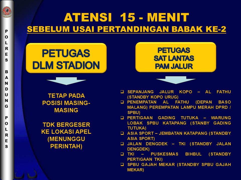ATENSI 15 - MENIT PETUGAS DLM STADION