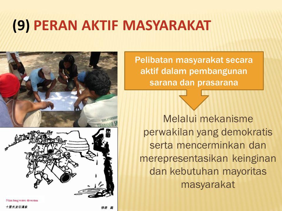 (9) PERAN AKTIF MASYARAKAT