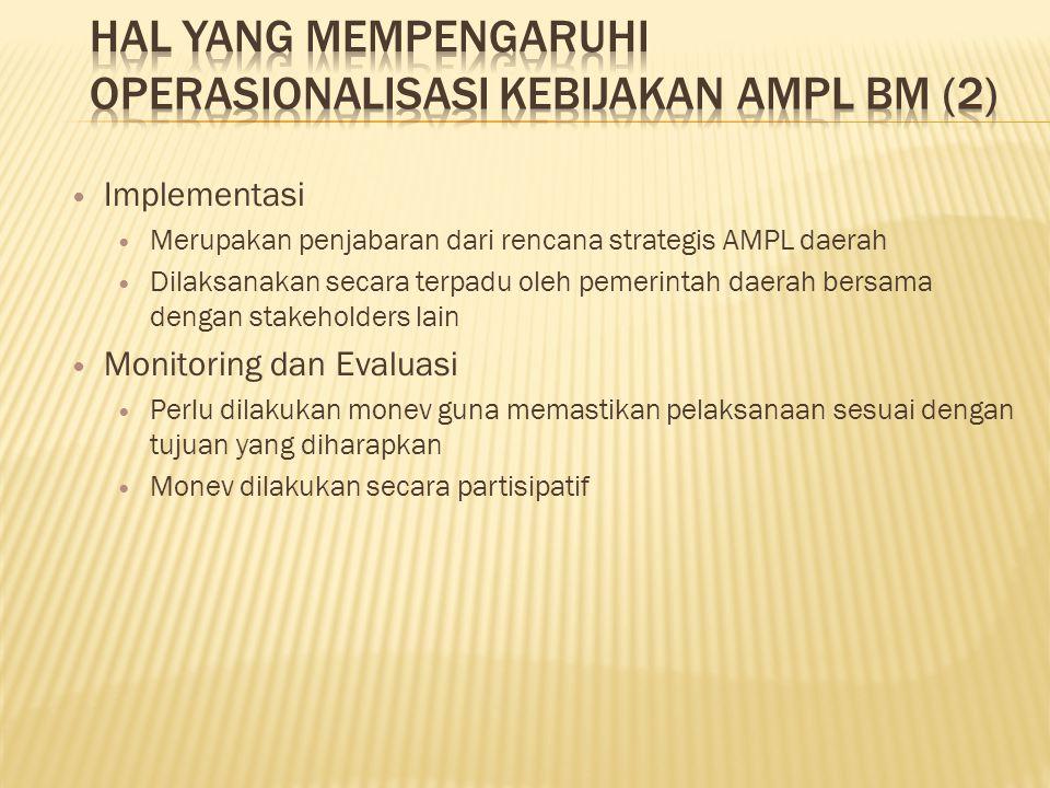 HAL YANG MEMPENGARUHI OPERASIONALISASI KEBIJAKAN AMPL BM (2)