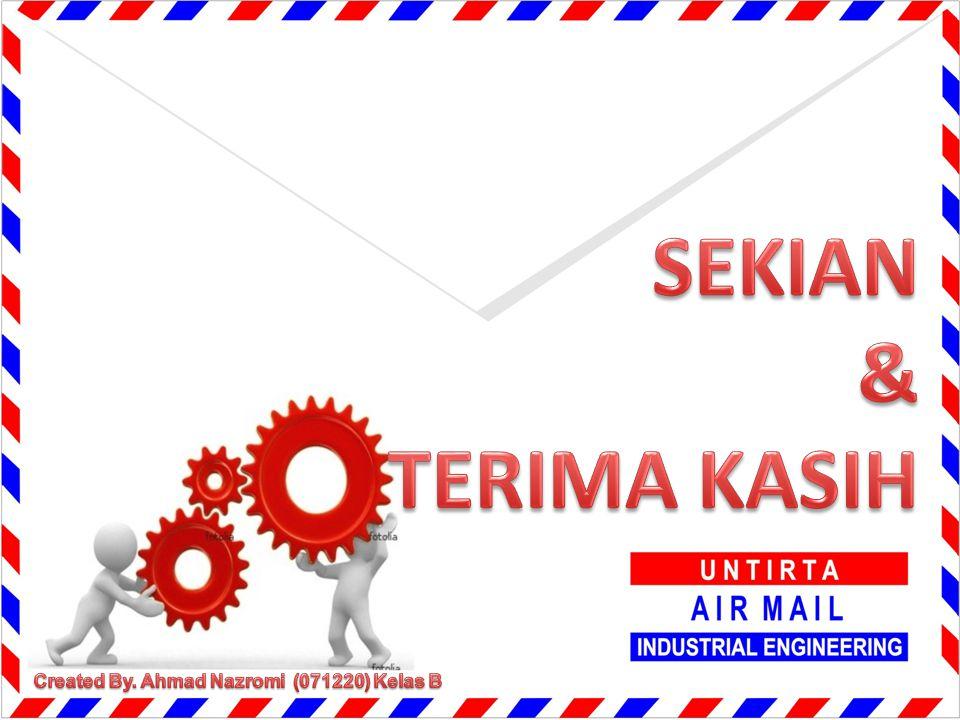 SEKIAN & TERIMA KASIH Created By. Ahmad Nazromi (071220) Kelas B