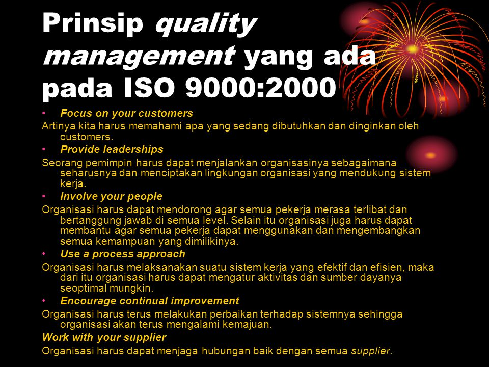 Prinsip quality management yang ada pada ISO 9000:2000