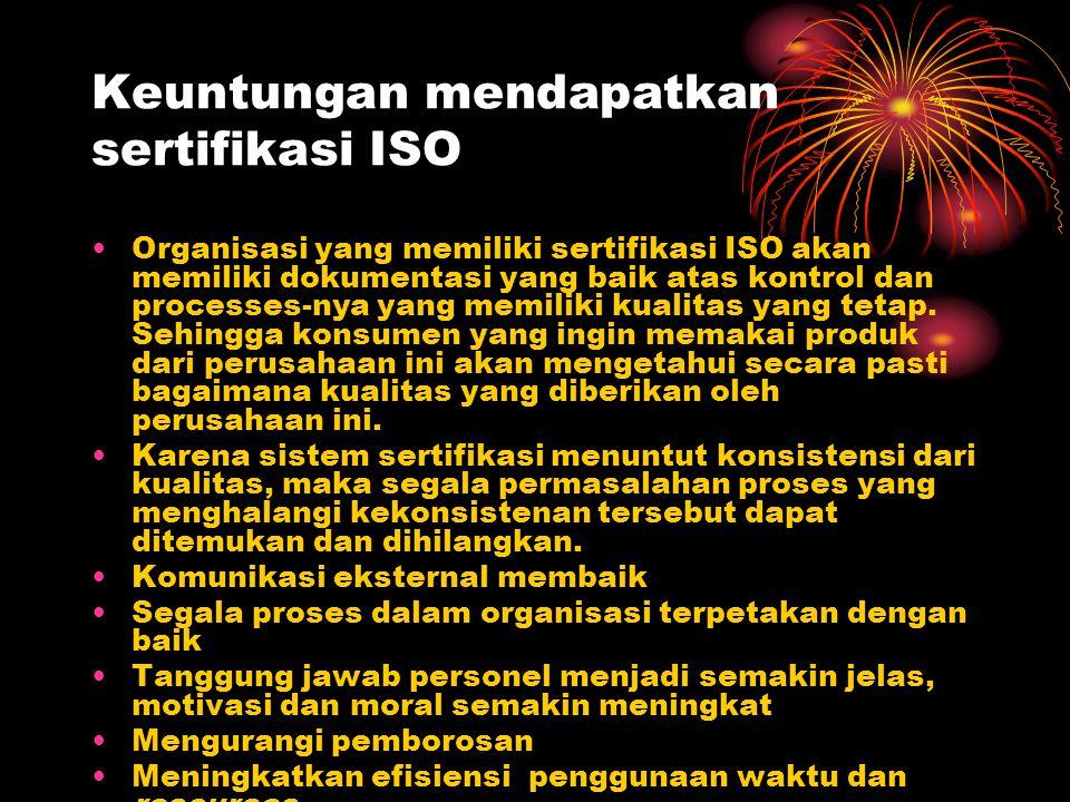 Keuntungan mendapatkan sertifikasi ISO