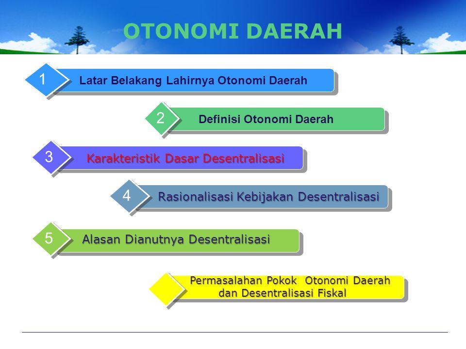 Latar Belakang Lahirnya Otonomi Daerah Definisi Otonomi Daerah