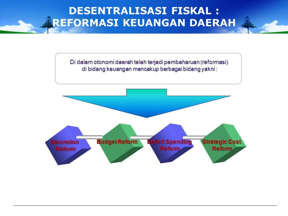 DESENTRALISASI FISKAL : REFORMASI KEUANGAN DAERAH