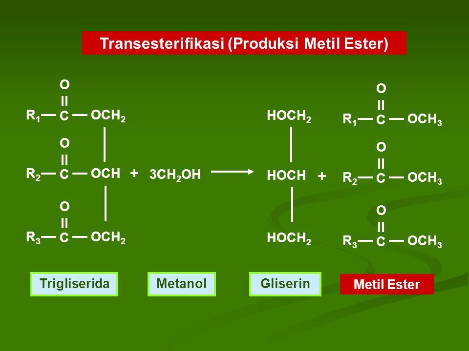 Transesterifikasi (Produksi Metil Ester)