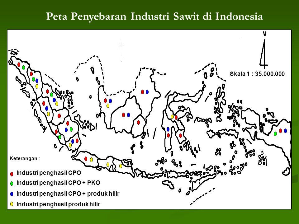 Peta Penyebaran Industri Sawit di Indonesia