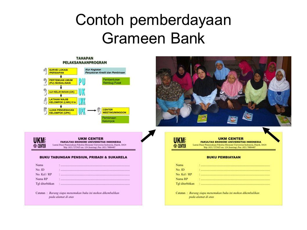 Contoh pemberdayaan Grameen Bank