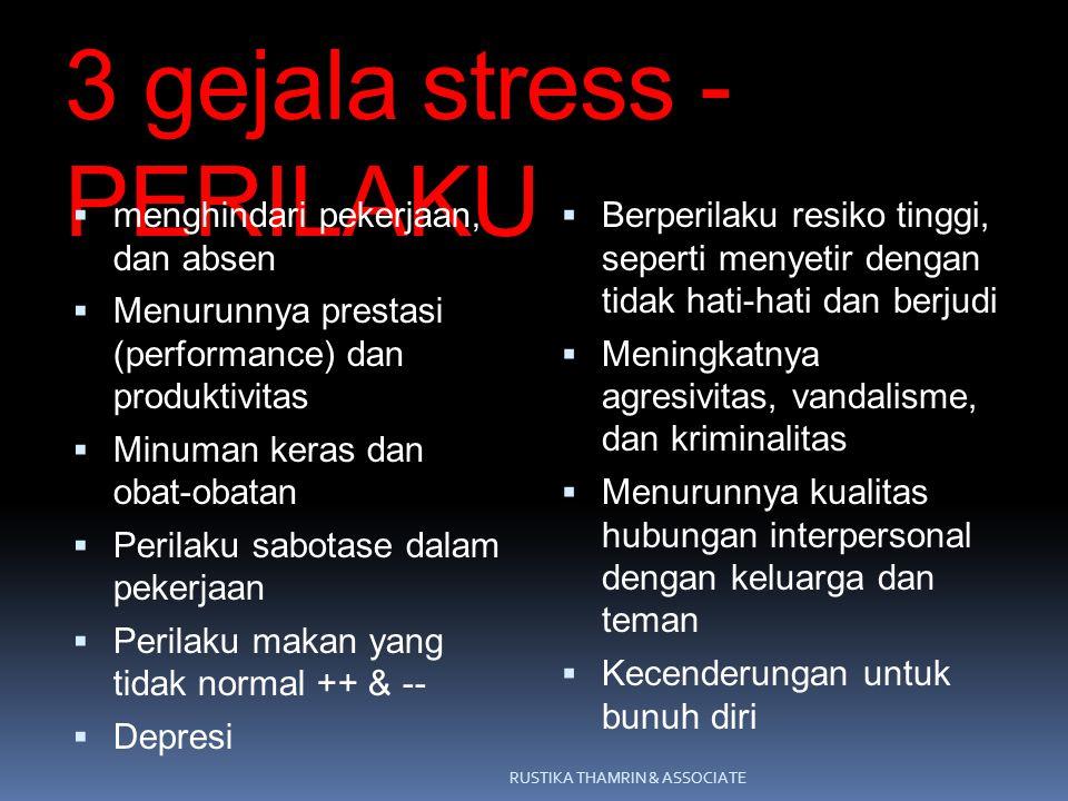 3 gejala stress - PERILAKU