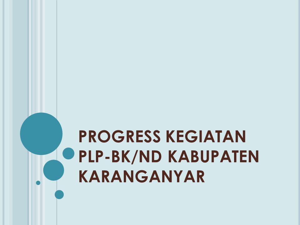 PROGRESS KEGIATAN PLP-BK/ND KABUPATEN KARANGANYAR